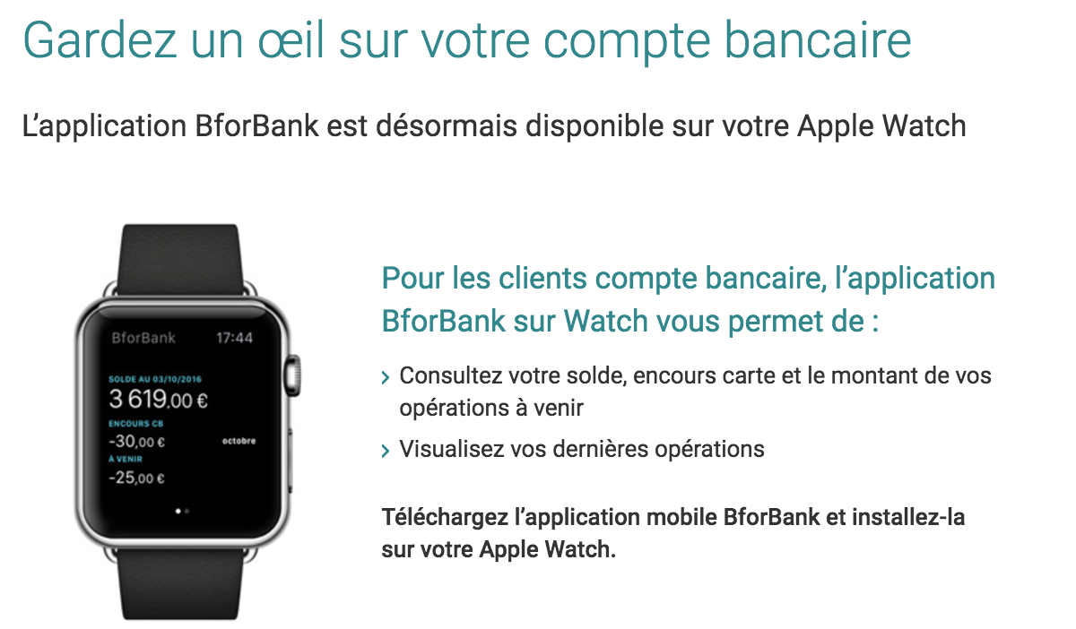 Apple Watch BforBank