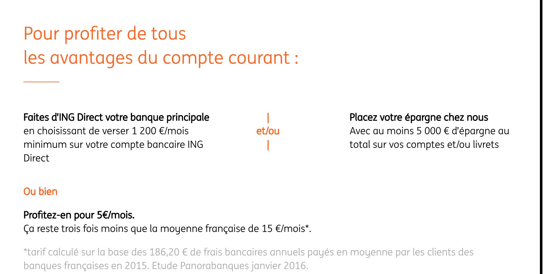 compte Courant ING Direct
