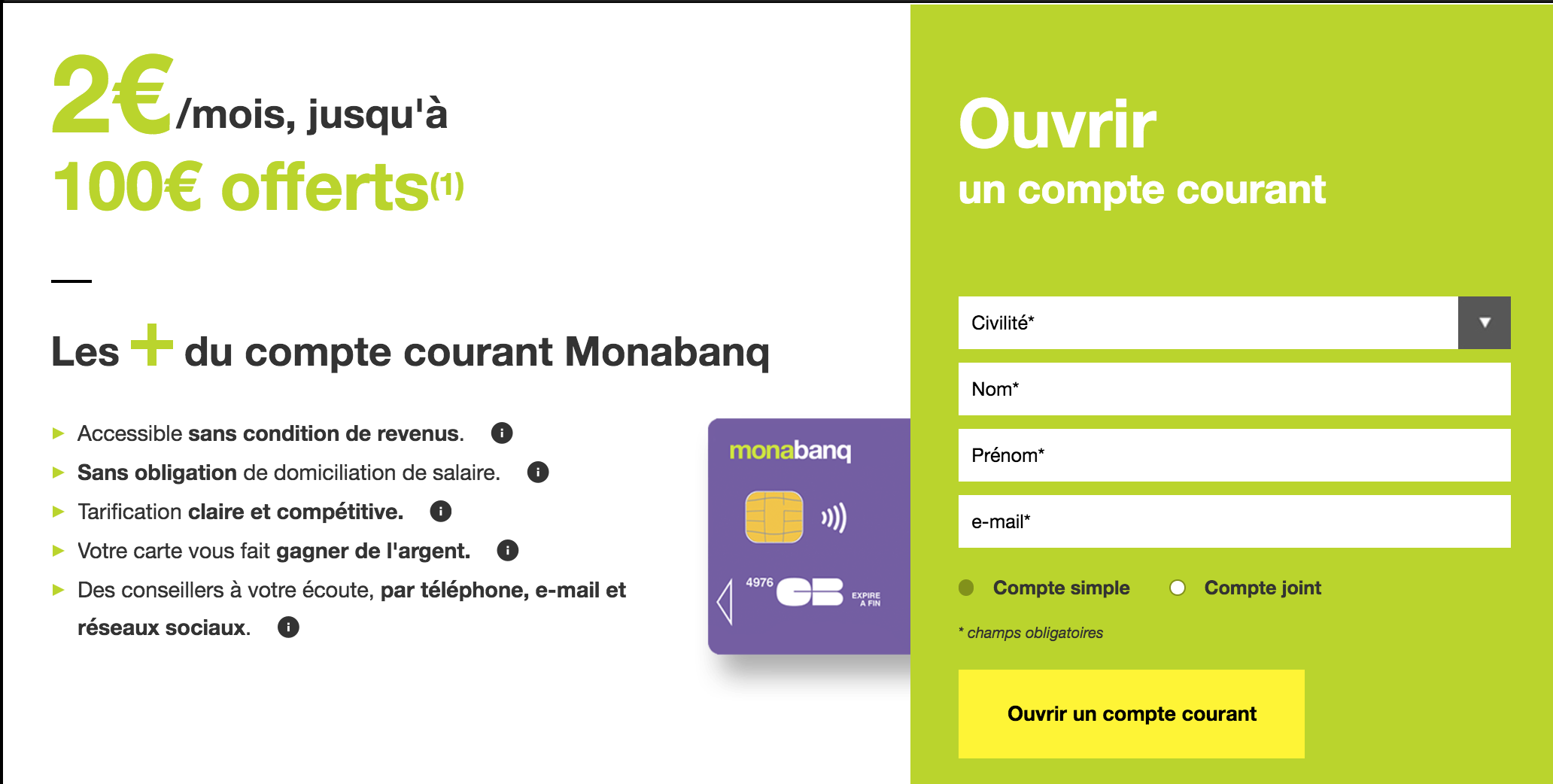 compte courant Monabanq