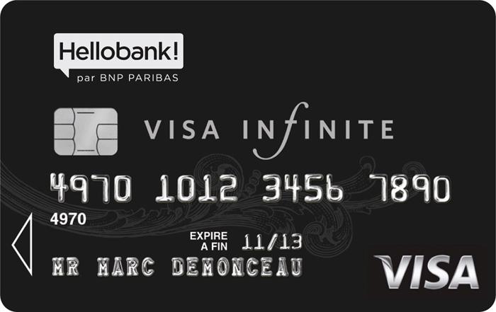 visa infinite hellobank